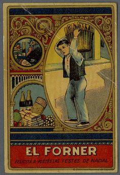 [Felicitaciones de Navidad de oficios.. EL PANADERO Grabado — 1900-1960