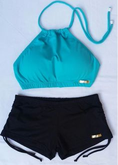 Bathing Suits For Teens, Summer Bathing Suits, Cute Bathing Suits, Bikini Outfits, Crop Top Outfits, Cute Swimsuits, Women Swimsuits, Outfits For Teens, Summer Outfits