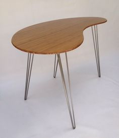 Custom Made Standing Desk, Kidney Shaped, Mid Century Modern