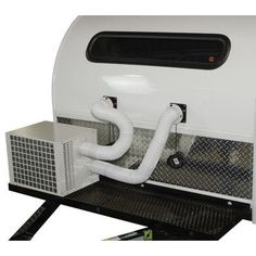 The only complete camping, small RV, small tent, boat cabins, small living shed air conditioner and heater combo. Both cools and heats. Covers up to Sits outside of your enclosure - away from you and quiet. Aesthetically better than window and portable un Vintage Trailers, Camper Trailers, Camper Van, Travel Trailers, Vintage Campers, Diy Camper, Vintage Motorhome, Tiny Trailers, Vintage Rv