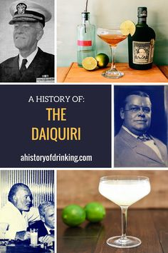 history of the daiquiri cocktail - pinterest