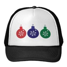 Christmas Baubles Mesh Hat #Christmas #Baubles #Hat #Cap