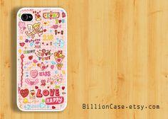 Pink Cute Love Happy Cupid Pattern Valentine -  iPhone 5 Case iPhone 4 Case iPhone 4s Case Hard Plastic Case Rubber Case. $15.99, via Etsy.