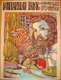 2009 Widespread Panic - LA Silkscreen Concert Poster by MMM   JoJo's Posters