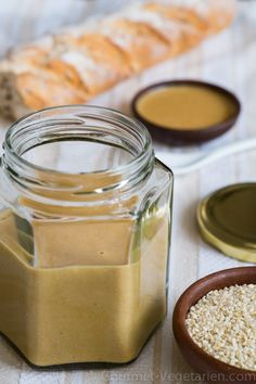 Tahini, Sauces, Panna Cotta, Peanut Butter, Healthy, Ethnic Recipes, Food, Mediterranean Kitchen, Cooking Recipes