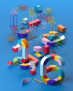 Illustration for @wiredgermany #WiredGermany #wired #muokkaa #numbers #design #3dtype by muokkaa