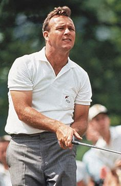 "Arnold Daniel Palmer (born September 10, 1929) is an American professional golfer, who is generally regarded as one of the greatest players in the history of men's professional golf. He has won numerous events on both the PGA Tour and Champions Tour, dating back to 1955. Nicknamed ""The King,"" he is one of golf's most popular stars and its most important trailblazer.  www.tripcaddy.es"