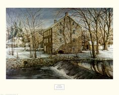 Mill in the Morning Print by Dan Campanelli at Art.com