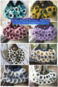 Crochet Flower Purse – Free Crochet Pattern & video tutorials By Meladora's Creations