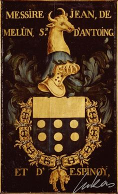 Armorial plates from the Order of the Golden Fleece Photo number: 0010225000 Artist: Lukas de Heere Period (century): century Illuminated Letters, Illuminated Manuscript, The Game Book, Mystery Of History, Book Projects, Crests, Coat Of Arms, Fine Art America, Oil On Canvas