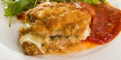 Chicken Thigh Mozzarella And Smoked Ham - Easy Meals with Video Recipes by Chef Joel Mielle - Mozzarella Chicken, Chicken Ham, Buffalo Mozzarella, Smoked Chicken, Chicken Ideas, Stuffed Chicken, Healthy Chicken Casserole, Italian Chicken Recipes, Smoked Ham