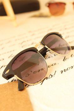 b481f04e48 2015 Fashion Womens semi rimless sunglasses Mens Vintage Retro metal Half  frame auti UV Sun glasses