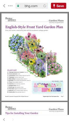 Flower Garden Plans, Garden Yard Ideas, May Garden, Lawn And Garden, Planting, Gardening, Cottage Garden Plants, Garden Landscape Design, Front Yard Landscaping