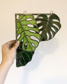 I hope you guys are loving my Greenery Line so far! Don't fret, I will definitely be replicating the designs and releasing a handful at once (hopefully) next week! Stained Glass Suncatchers, Stained Glass Designs, Stained Glass Projects, Stained Glass Patterns, Stained Glass Art, Leaded Glass, Sea Glass Art, Mosaic Glass, Fused Glass