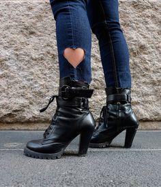 DIY: cut-out jeans