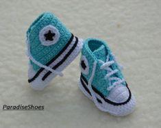 converse de crochet crochet chaussures par ParadiseShoes sur Etsy