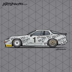 Porsche 924 GTP GTR – 24h of Le Mans race car driven by  Walther Röhrl and Jürgen Barth in 1981 #Porsche #Motorsport #VintageRacing #ClassicCar #Cars +++ Artsmoto.com