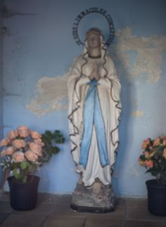 """I am the Immaculate Conception."" Shrine in Aulnois, Belgium."