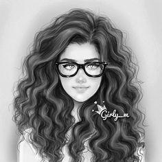 blacknwhite curly hair