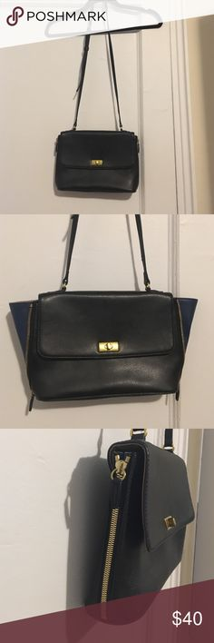 Nwot jcrew factory zipper leather crossbody Nwot jcrew factory zipper leather crossbody, zipper expansion, great quality leather, brand new, adjustable strap, dark blue expansion, gold hardware J. Crew Factory Bags Crossbody Bags