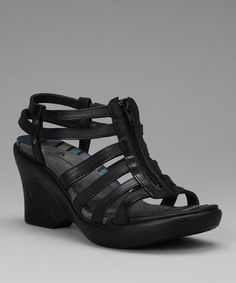 Take a look at this Black Myra Wedge Sandal by DROMEDARIS on #zulily today!  Don't these say SPRING FUN!?