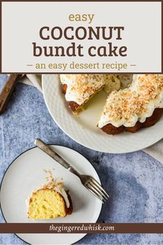 This simple coconut cake recipe is loaded with coconut flavor and a moist, tender crumb. This easy to make bundt cake is perfect for company or spring parties. This is the best recipe that is simple and from scratch. Healthy Spring Recipes, Summer Dessert Recipes, Great Desserts, Best Cake Recipes, Cupcake Recipes, Cupcake Cakes, Bundt Cake Pan, Kid Friendly Meals, Coconut