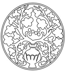 medieval pattern coloring page