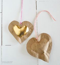 Puffy heart tags   Father's day gift ideas