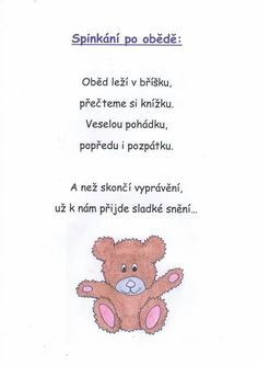 Pravidla, ritualy, režim Infant Activities, Preschool Activities, Pre School, Projects For Kids, Kids And Parenting, Kindergarten, Homeschool, Baby Boy, Teddy Bear