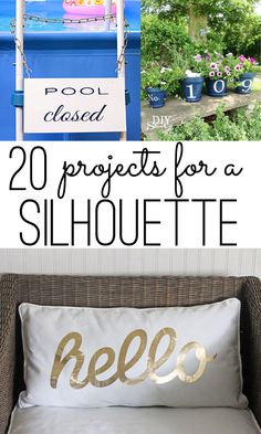 20 Silhouette projects you can make – some easier and some a little more complex – but all are great ideas to gather inspiration from for your next craft adventure.