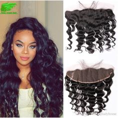 Cheap 8a Malaysian Body Wave Lace Frontal Closure 13*4 / 13*2 Malaysian Hair… Full Lace Frontal, Natural Waves, Malaysian Hair, Loose Waves, Remy Hair, 100 Human Hair, Hair Type, Natural Hair Styles, Hair Beauty