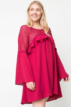 Plus Size Simply Perfect Dress-Plum