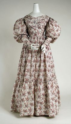 c. 1830 dress, British. Cotton. The Met, 2006.408