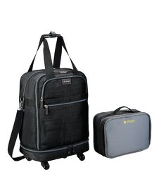 "Biaggi offers NEW ZipSak with MicroFold that dramatically shrinks the space that luggage occupies in your life. Buy your Zipsak 22"" foldable carry-on today."