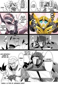 Transformers Fan art and Memes - Mega and Ops Transformers Knockout, Transformers Prime Bumblebee, Transformers Memes, Transformers Autobots, Fanart, Optimus Prime, Manga, Drawing, Just In Case