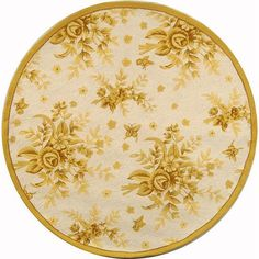 Safavieh Hand-hooked Flov / Gold Wool Rug