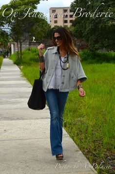 Ox Jeans and Broderie