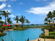 Infinity Edge pool with a view of Kaanapali Beach at Honua Kai in Maui --- I'll be there everyday!