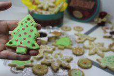 Galletas de avena decoradas para Navidad
