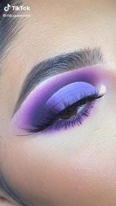 Purple Makeup Looks, Purple Eye Makeup, Makeup Eye Looks, Eye Makeup Steps, Eye Makeup Art, Colorful Eye Makeup, Skin Makeup, Eyeshadow Makeup, Eyeliner