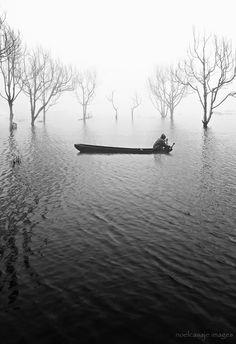 Japanese lake tranquility
