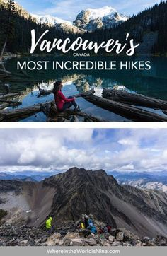 This Vancouver hikes are perfect for anyone looking for adventure around the city. Here are great easy, moderate and hard hikes from Vancouver. Toronto, Adventure Holiday, Adventure Travel, Adventure Time, Quebec, Montreal, Ontario, Vancouver Vacation, Vancouver Hiking