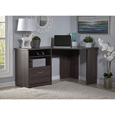 Bush Furniture Cabot Collection Corner Desk in Heather Gray  http://www.mytimehome.com/bush-furniture-cabot-collection-corner-desk-in-heather-gray/