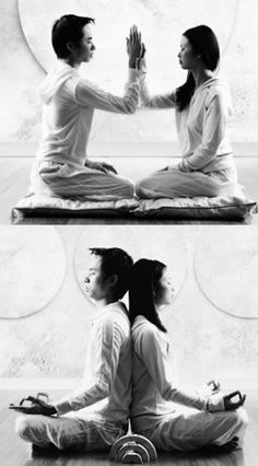 tantra couples meditating togetheblack and white photos - Google Search