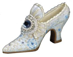 "Chaussure miniature ""xviiième bleu"" cp200"