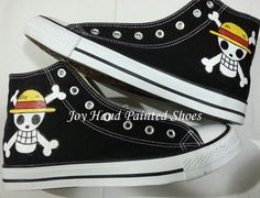 one piece anime shoes custom one piece anime hand painted shoes