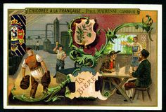 Chicoree - Drinks - Beer. French tradecard c1900.