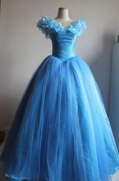 2015 New Sandy Princess Cinderella Women Blue Dress Cosplay Costume Adult USA #Handmade #Dress