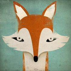 for the kiddos / mister fox graphic art illustration 7x7 giclee by nativevermont