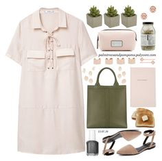 """""""It's a Shirt! It's a Dress! It's a Shirtdress!"""" by palmtreesandpompoms ❤ liked on Polyvore featuring MANGO, Alexander Wang, Valextra, Dr. Jackson's, Marc Jacobs, Essie, Kate Spade, Crate and Barrel, Maison Margiela and Tory Burch"""